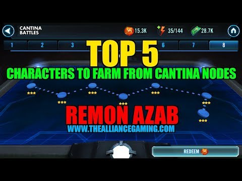 Star Wars Galaxy Of Heroes: Top 5 Characters To Farm From Cantina Nodes - SWGOH - The ALLIΔNCE