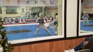 Sergios taekwondo sparring