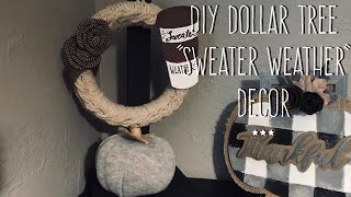 "DIY Dollar Tree  ""Sweater Weather""  Decor"