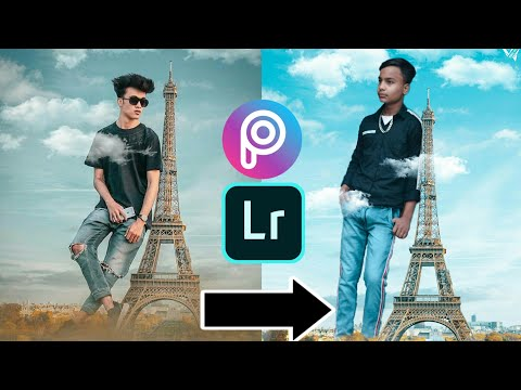 Instagram trending Eiffel Tower photo editing step by step best photo editing PicsArt
