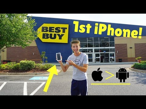 IDIOT Goes Phone Shopping! I Bought My FIRST IPhone!