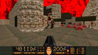 Doom - Revenant beats up Cyberdemon