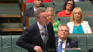 Christopher Pyne on Question Time 24 November 2014