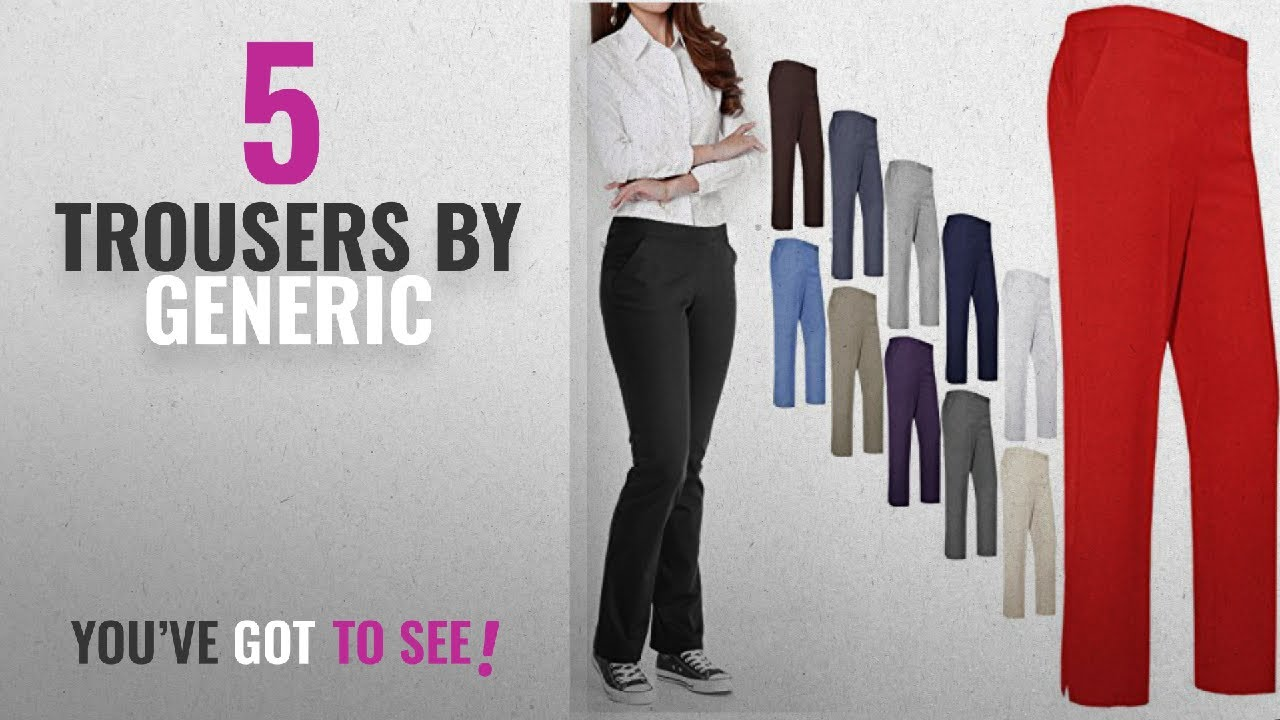 9aef583f8 Top 10 Generic Trousers [2018]: WOMEN LADIES TROUSERS CLASSIC PANTS ...