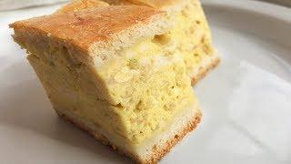 Луковый Пирог с плавленными сырками. Закусочный пирог