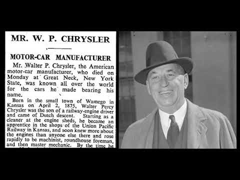 Walter P Chrysler : Automobile Pioneer