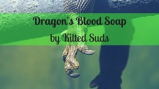 Dragon Blood Soap | Layered Soap | In-The-Pot Swirl | Drop Swirl | Kilted Suds Soap