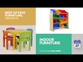 default - Tot Tutors Kids 2-in-1 Plastic LEGO-Compatible Activity Table and 2 Chairs Set, Primary Colors