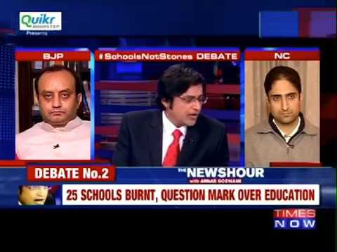 You begged me to come on your show...Junaid Mattu owns Arnab goswami