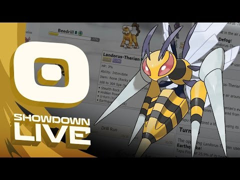 """MEGA BEEDRILL"" Pokemon Sun & Moon! OU Showdown Live w/PokeaimMD!"