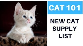 New Cat Supply List!  What You Will Need For Your New Cat Or Kitten