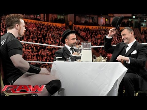 Santino Marella & Vladimir Kozlov host a tea party with Sheamus in England: Raw, Nov. 8, 2010