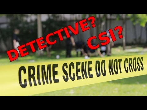 How To Become A DETECTIVE Or CSI