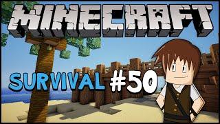 Minecraft Survival #50: Construindo a praia! (Parte 1)