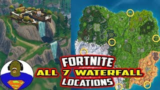 FORTNITE VISIT DIFFERENT WATERFALLS - ALL 7 WATERFALL LOCATIONS - FORTNITE OVERTIME CHALLENGES
