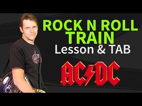 Rock n Roll Train Guitar Lesson & TAB - ACDC