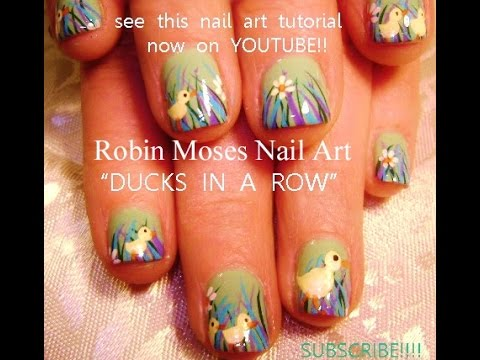 easy easter nails  baby duck nail art design tutorial