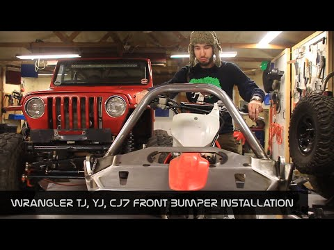 JcrOffroad - Wrangler Front Bumper TJ, YJ, CJ7 Installation Instructions - By BleepinJeep