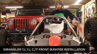 JcrOffroad - Wrangler Front Bumper TJ, YJ, CJ7 Installation Instructions - By BleepinJeep