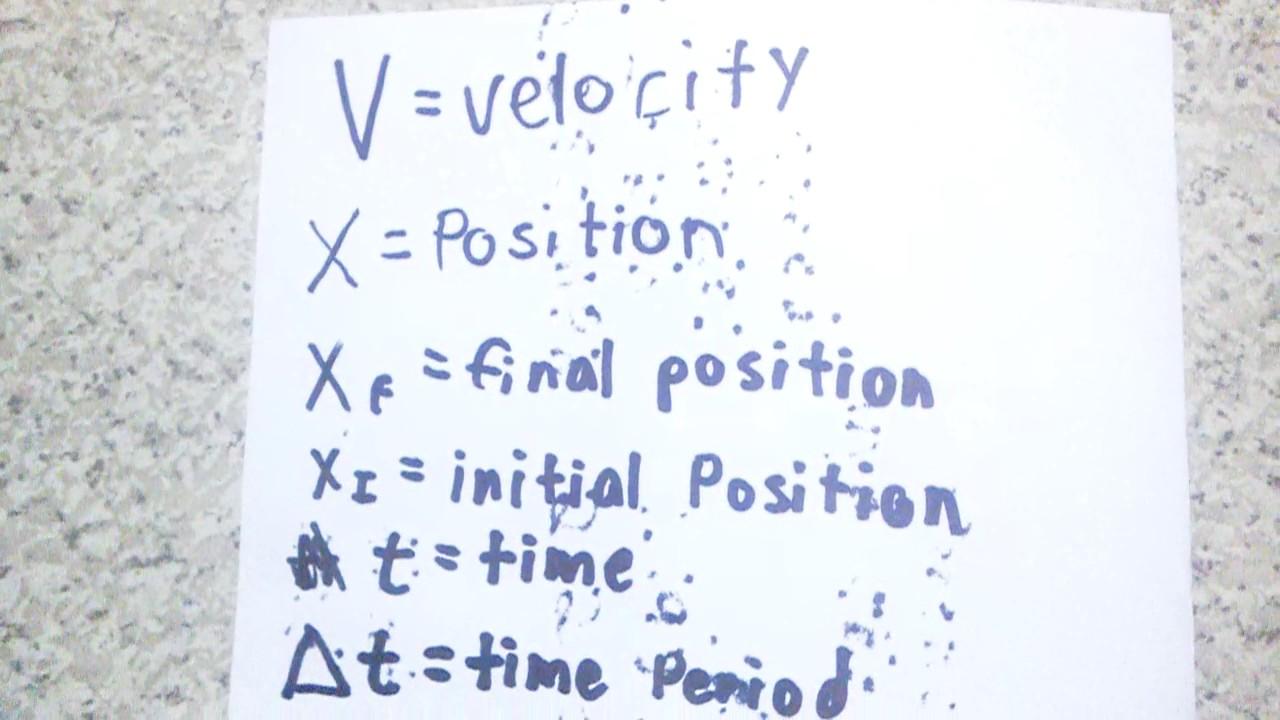 Basic Physics Symbol For Equation Youtube