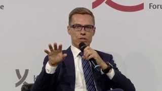 Alexander Stubb, Prime Minister of the Republic of Finland, gave speech in Berlin