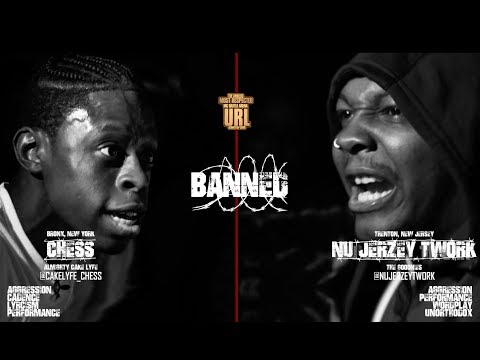 BANNED: NU JERZEY TWORK VS CHESS RAP BATTLE | URLTV
