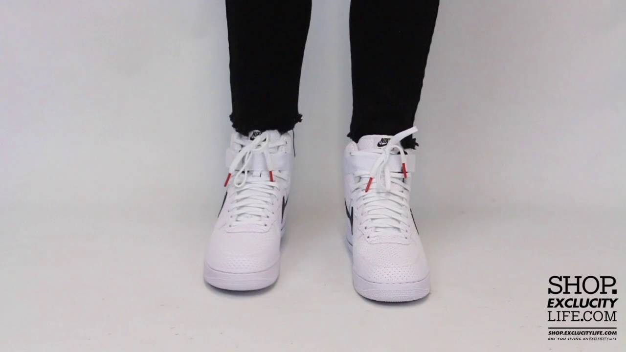 Nike Air Force 1 High White Black On Feet Video At Exclucity Youtube