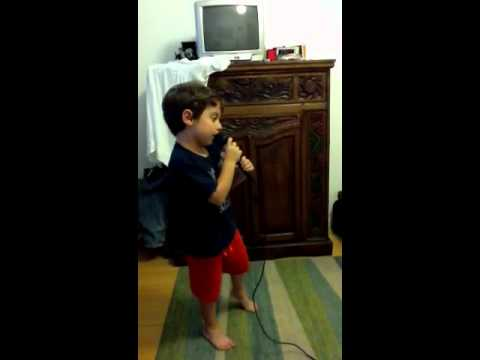 4 year old Chocolate cake karaoke Luke