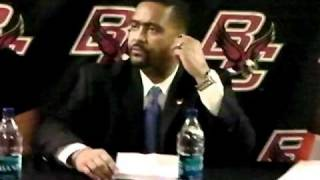 2/23/11 -- Coach Haith, Reggie Johnson and Malcolm Grant - BC Postgame