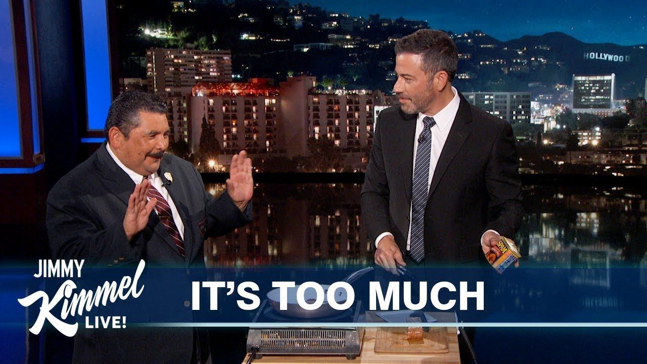 Jimmy Kimmel & Guillermo Try Pumpkin Spice Spam