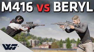 M416 vs Beryl - Which one is better? In-depth testing / side-by-side comparison - PUBG