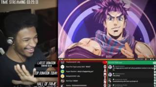 Etika Ewnetwork  Reaction To Bloody Stream / Jojo's Bizarre Adventure Opening 2