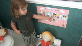 Little A explains the Potty Tots Potty Chart and sings the theme song!
