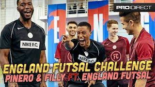 HARRY PINERO, YUNG FILLY ft ENGLAND FUTSAL TEAM | SKILLS CHALLENGE