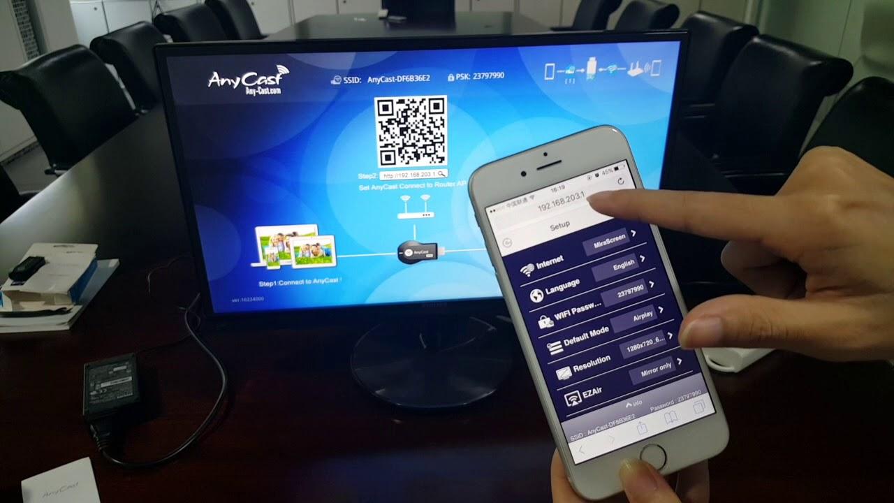AnyCast Setup for iOS device