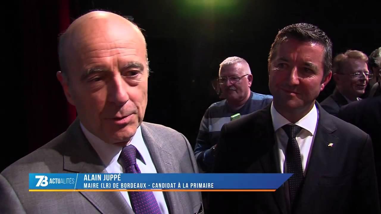Présidentielle : Alain Juppé à Poissy