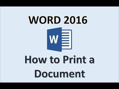 Word 2016 - Print A Document - How To Get Computer Setup From Full Page On Microsoft MS Documents PC