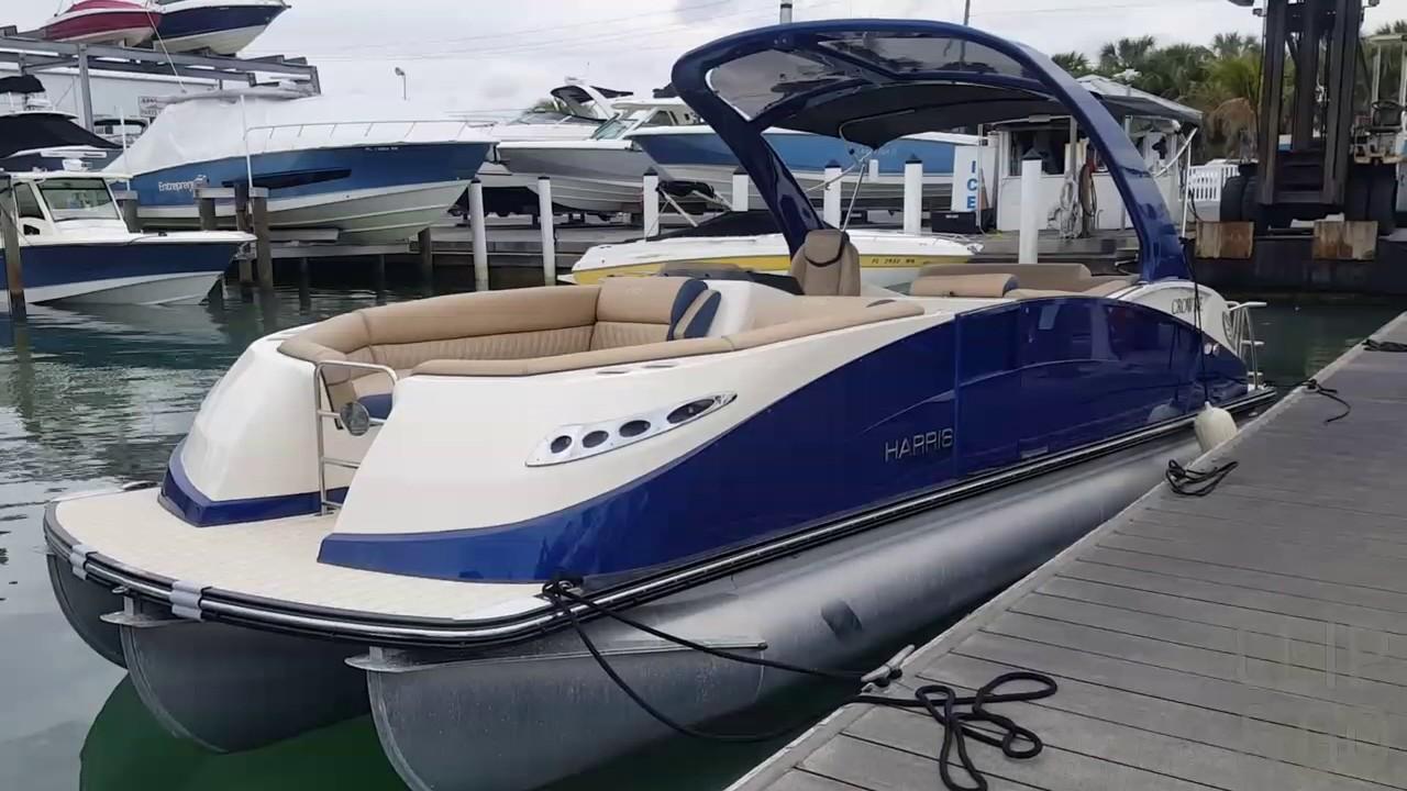 2017 Harris 250 Crowne Pontoon Boat For Sale at MarineMax Sarasota