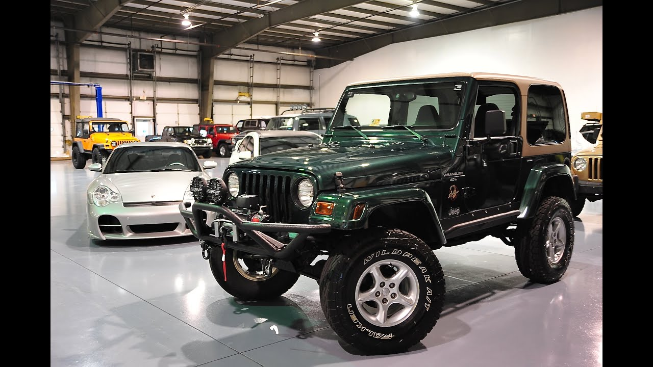 Lifted Jeep Wrangler For Sale >> Davis AutoSports 2000 Jeep Wrangler Sahara 64k For Sale - YouTube
