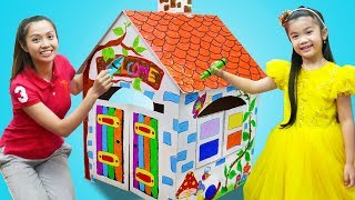 Hana Pretend Play Coloring Kids Playhouse w/ Crayons & BBQ Party Food Toys
