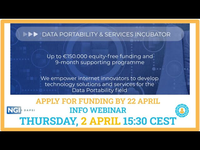 DAPSI Open Call #1 Webinar#3 with MyData Community