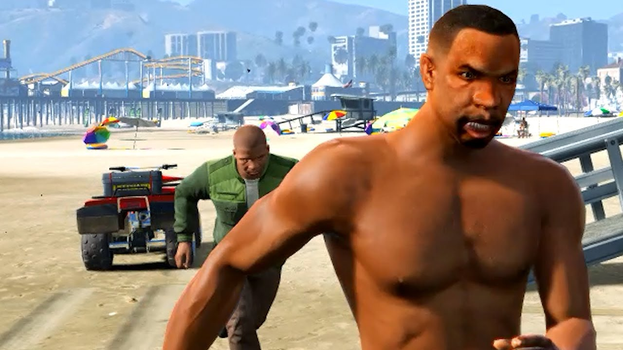 GTA5 #shorts Franklin vs coast lifeguard