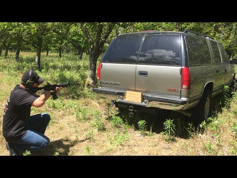 AR-15 VS SUV GMC  - SHOOTING AR-15