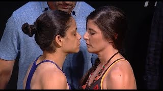 Livinha Souza vs. Alex Chambers - Weigh-in Face-Off - (UFC Fight Night: Santos vs. Anders) - /r/WMMA