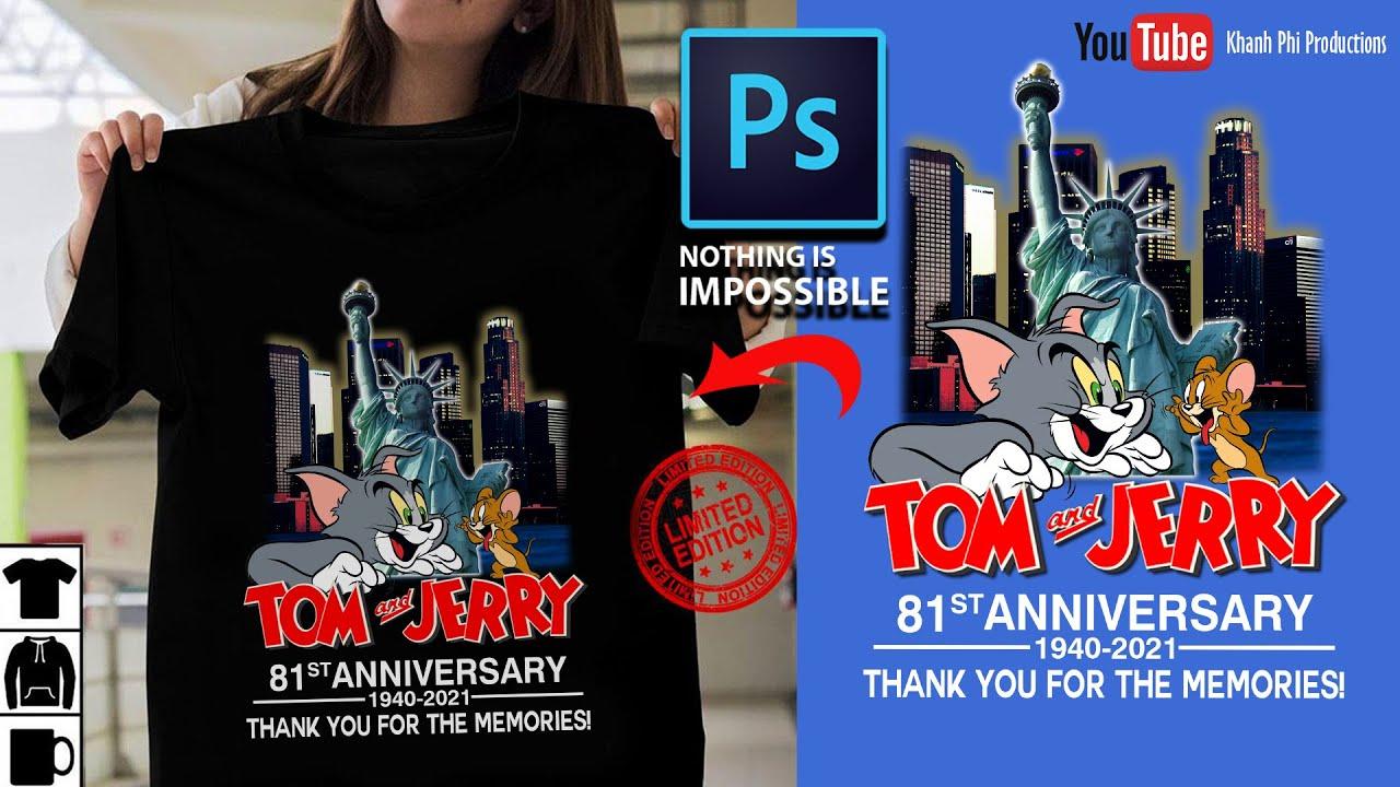 [Học Photoshop] – Thiết kế áo thun (Phần 3) – How To Redesign The T-Shirt Template