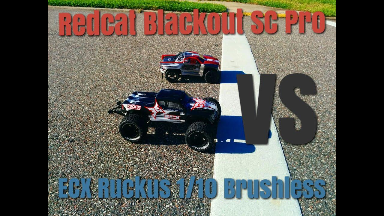 Redcat Blackout SC Pro Vs ECX Ruckus 2wd Brushless race RC JOE