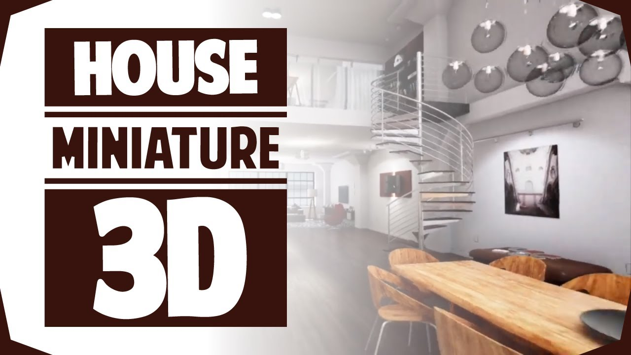 House miniature 3d interior virtual walkthrough tour for Virtual home walkthrough