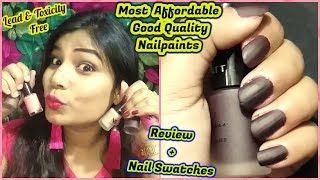 Most Affordable Good Quality Nail Paints   Chemicals Free   NY Bae NailPaints Review+ Nail Swatches