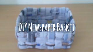 DIY Recycled Newspaper Basket/Box - Super Easy Tutorial!