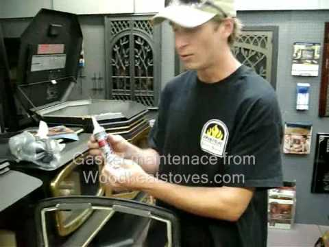 How To Replace A Door Gasket On A Wood Stove Youtube